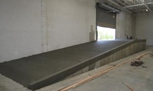 loading dock ramp in industrial building