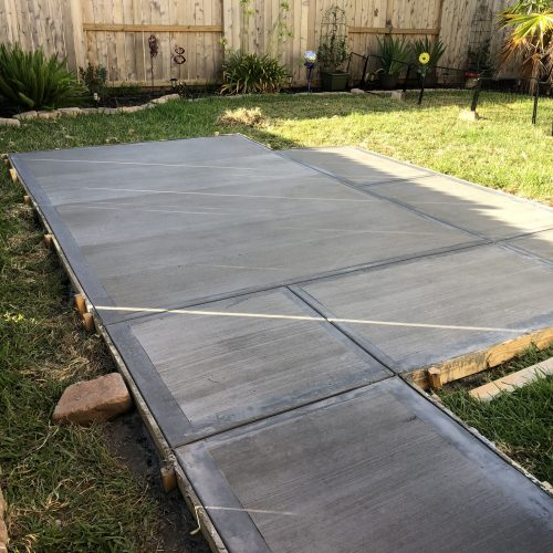 concrete slabs for shed