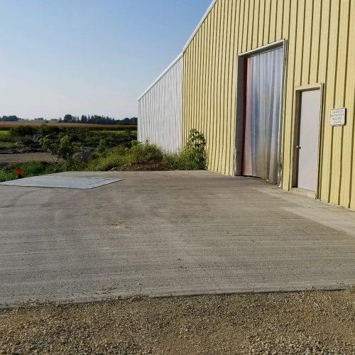loading dock at warehouse